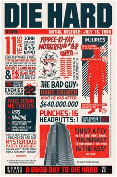 Awesome Robo! Die Hard Infographics : From Nakatomi Plaza To Moscow