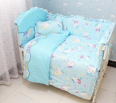 Cute & Cozy Hello Kitty 6-PC Top Quality Baby Nursery Bedding Set - Loluxe - 1
