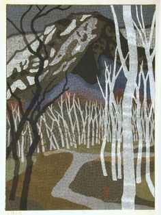 Mabuchi Toru, White Birch Road, 1960.