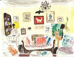 Love this painting of an interior by Bella Foster.