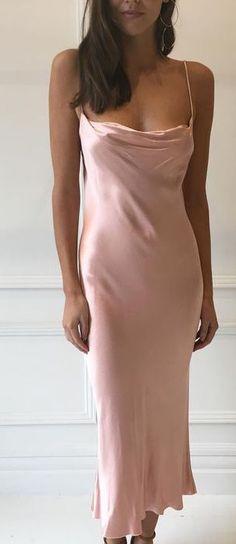 ef1b76f3002 pink silk midi dress Slip Dresses