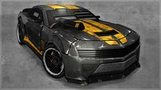 Death Race Camaro by on DeviantArt Donk Cars, Death Race, Batman Batmobile, Car Painting, Car In The World, Armored Vehicles, Amazing Cars, Sport Cars, Concept Cars