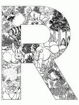alphabet animal r