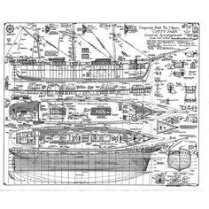Cutty Sark – General Arrangement plan