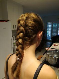 Again the dutch braid on my little sister!   #hairstyles # longhair #hair #fashion #braid #dutch #beautiful #simple #style