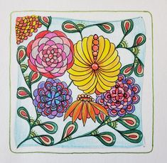 Hump Day Zentangle Challenge How Does Your Garden Grow Edition New Jersey Beaches, Crayola Colored Pencils, Theory Of Evolution, Prismacolor, Tangled, Zentangle, Flower Power, Challenges, Day