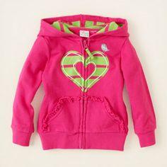 graphic zip-up hoodie