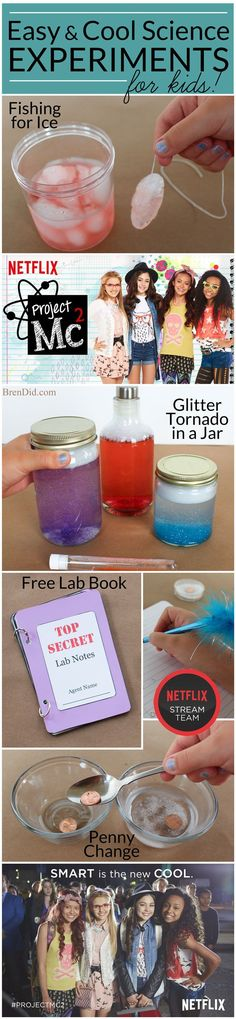 Set up a science lab with different stations for a Project Mc2 themed birthday party. With simple ingredients around the house kids can perform different experiements!