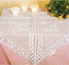 Art: crochet tablecloth.