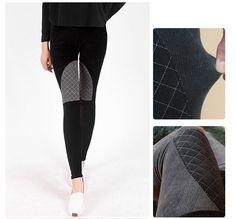 Patched STRETCH VELVET CORDUROY Leggings Pants Skinny Jean Spandex #Unbranded #SkinnyPants