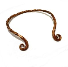 Bronze Age Hand Wrought Copper Torc or Neck Ring