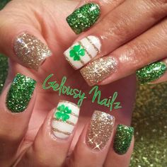 Patrick's Day is coming soon. Now let's take a quick look at some green and gold St. In addition, because this is an Irish festival, there are also some Irish flag nail art.See below for the Best St. St Patricks Day Nails, St. Patricks Day, Saint Patricks, Fancy Nails, Pretty Nails, St Patricks Nail Designs, Nail Art Designs, Holiday Nail Designs, Nails Design