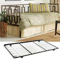 Nebraska Furniture Mart – Fashion Bed Group Daybed with Linkspring -Plus- Roll-Out Trundle Daybed, Trundle Beds, Log Cabin Homes, Nebraska Furniture Mart, Floor Finishes, Rustic Elegance, Bed Styling, Space Saving, Flooring