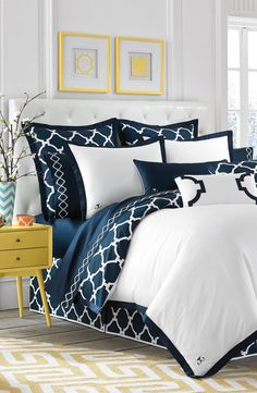 Jill Rosenwald_Duvet Cover_'Hampton Links' Reversible Duvet Cover | Kenshō Home