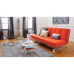 flex gravel orange sleeper sofa for the office | CB2 $1000
