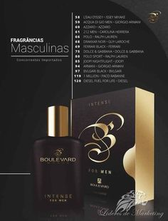 Perfumes com essências importadas 14 fragrâncias masculinas