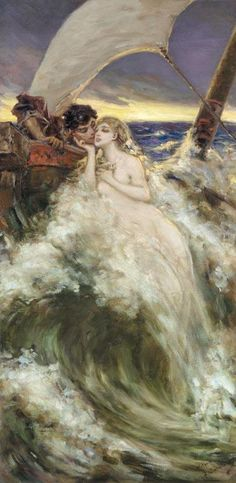 Vasily Alexandrovich Kotarbinsky, (Russian,1849-1921), CARESS OF THE WAVE