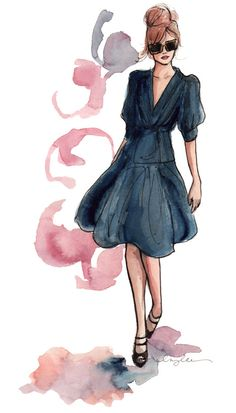 Fashion Illustration #Inspiration by @Inslee Haynes Haynes | Find the Illustrator on today's #BTPS on www.levo.com/articles