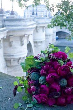 Bouquet in Paris. Beautiful Flower Arrangements, Fresh Flowers, Purple Flowers, Floral Arrangements, Beautiful Flowers, Beautiful Things, Flower Bouquet Wedding, Floral Bouquets, Planting Flowers