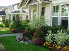 Use this kind of front yard landscaping for your privacy, you don't need window curtains in the morning.