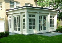 Exterior of Enclosed Sunrooms | Lattice Wood Enclosed Patio – Chicago