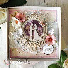 207.  Anniversary card in the box - GDT egocraft.pl #wedding #anniversary #card #scrapbooking #cardmaking #egocraftpl #UHKgallery #KatarinaEwahandmade
