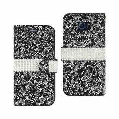 Reiko REIKO SAMSUNG GALAXY NOTE 5 DIAMOND RHINESTONE WALLET CASE IN BLACK