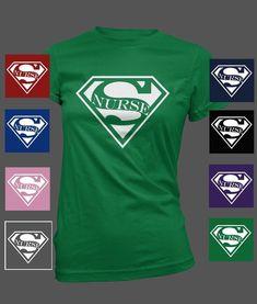 Nursing T- Shirt Super Nurse #Gildan #LadiesGraphicTShirt #nurseshirts