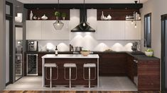 delectable Kitchen Design Ideas You'll want to Steal. Kitchen Dinning Room, Kitchen Decor, Decor Interior Design, Interior Decorating, Modern Kitchen Cabinets, Kitchen Lighting Fixtures, Kitchen On A Budget, Home Kitchens, Saint Jean