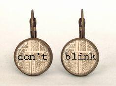 DOCTOR WHO - DON'T BLINK Earrings, 0203ERB from EgginEgg by DaWanda.com