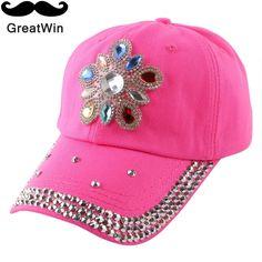 $5.93 (Buy here: https://alitems.com/g/1e8d114494ebda23ff8b16525dc3e8/?i=5&ulp=https%3A%2F%2Fwww.aliexpress.com%2Fitem%2Fnew-fashion-women-girl-beauty-luxury-bling-rhinestone-crystal-denim-baseball-cap-casual-good-qaulity-snapback%2F32651618423.html ) new women promotion cheap popular snapback fuchsia red pink denim rhinestone floral pretty baseball cap summer strapback hats for just $5.93