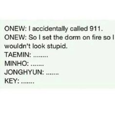 Onew condition. literally lol-ed