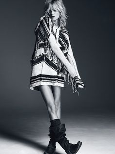 Free People Geo Fringe Hooded Cardigan at Free People Clothing Boutique