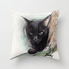 The Cat Throw Pillow by BATKEI - $20.00