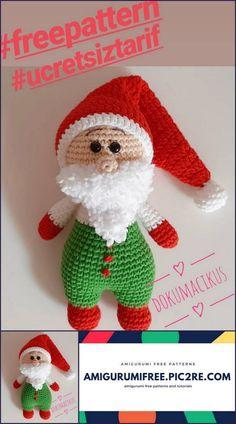 Amigurumi Santa Claus Free Recipe – My Amigurumi Recipes – Toys Ideas Crochet For Boys, Cute Crochet, Crochet Ideas, Crochet Patterns Amigurumi, Baby Knitting Patterns, Knitted Teddy Bear, Babe, Diy Toys, Free Pattern
