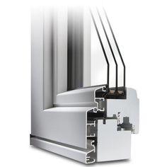 Holz-Alu Fenster IDEALU 68 Profildecke im Farbton Weiß