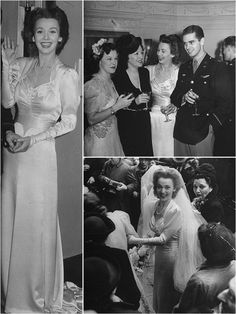 Iconic wedding dresses of the '40s - weren't they beautiful!