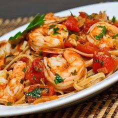 Shrimp Linguine in a Tomato & White Wine Sauce Recipe - ZipList