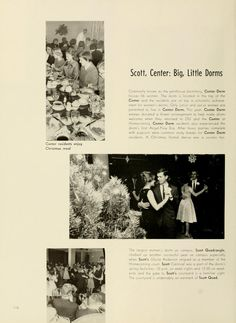 Ohio University Archives Athena Yearbook 1961 A Christmas Formal Dance In Center Dorm Baker Center