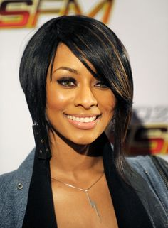 Keri Hilson inverted bob Short Hairstyles Lookbook - StyleBistro