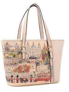 New Western Style Printing Big Capacity Retro Handbags