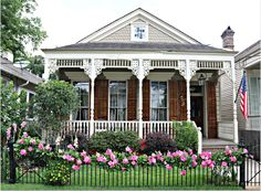 Uptown New Orleans Home, Fence Blooming New Orleans Homes, Historic Homes, Louisiana, Townhouse, Fence, Gazebo, The Neighbourhood, Condo, Bloom