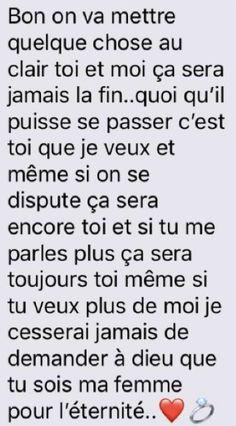 Ok je vois que mes messages sont bien compris . Sad Love, Love You, Book Quotes, Me Quotes, Cute Text Messages, Text For Her, French Quotes, Caption Quotes, Rap