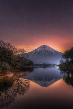 Sunrise in Mount Fuji, Japan