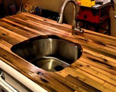 Items similar to Solid Hardwood Custom Butcher Block, Made from Recycled Pallets. on Etsy