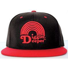 Diggin Deeper Hat Black Red design inspiration on Fab.