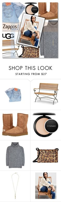 """""""The Icon Perfected: UGG Classic II Contest Entry"""" by anilovic ❤ liked on Polyvore featuring Levi's, Skagerak, UGG Australia, MAC Cosmetics, Yves Saint Laurent, Charlotte Olympia, Cole Haan, UGG, ugg and contestentry"""