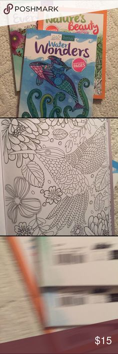 NWT - set of 3 adult coloring books Books have over 125 pages counting front and back.  Retail value 30.00 - selling for only15.00 Accessories