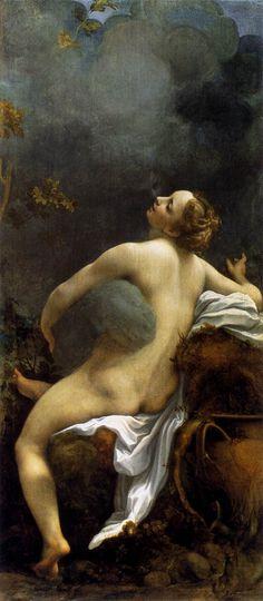 """""""Jupiter et Io"""" Tableau peint vers 1530 par Antonio Correggio.    Académisme du 19 è me siècle et surréalisme 20 ème siècle."""