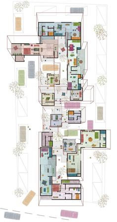 Floor Plan Perspective Clean and readable plan combined with interesting spatial expression, achieved in the most simple way possible. Perfect!: